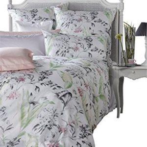 Schöne Bettwäsche aus Satin - weiß 135x200 von Curt Bauer