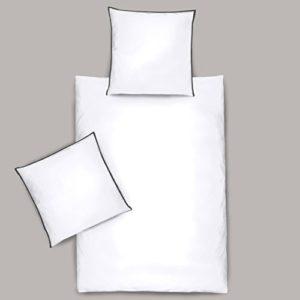 Traumhafte Bettwäsche aus Satin - weiß 135x200 von Dormisette