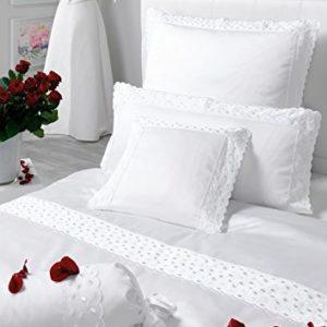 Traumhafte Bettwäsche aus Satin - weiß 135x200 von Estella