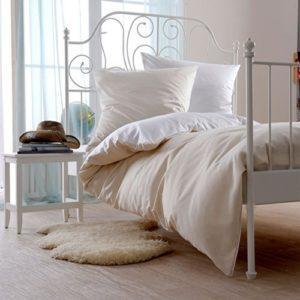 Traumhafte Bettwäsche aus Satin - weiß 135x200