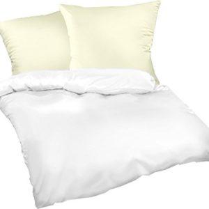 Schöne Bettwäsche aus Satin - weiß 155x200 von Genieße den Schlaf