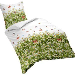 Schöne Bettwäsche aus Satin - weiß 155x220 von fleuresse