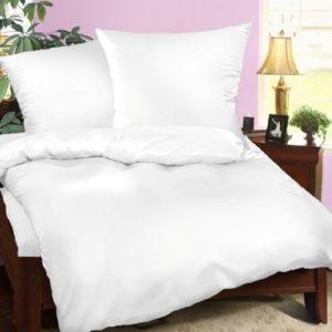 Hübsche Bettwäsche aus Satin - weiß 220x240 von Bettwaren-XXL