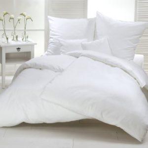 Traumhafte Bettwäsche aus Satin - weiß 220x240 von Carpe Sonno