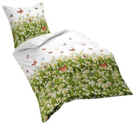 Kuschelige Bettwäsche aus Satin - weiß 220x240 von fleuresse