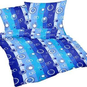 Hübsche Bettwäsche aus Seersucker - blau 135x200 von Carpe Sonno
