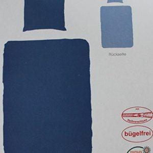 Hübsche Bettwäsche aus Seersucker - blau 135x200 von KH-Haushaltshandel
