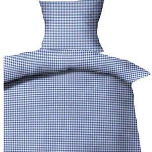 Kuschelige Bettwäsche aus Seersucker - blau 135x200 von P.K.
