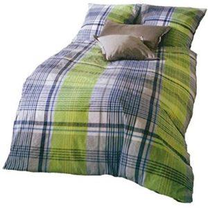 Schöne Bettwäsche aus Seersucker - blau 135x200 von P.K. Textilien