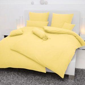 Kuschelige Bettwäsche aus Seersucker - gelb 135x200 von Janine