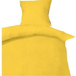 Hübsche Bettwäsche aus Seersucker - gelb 135x200 von P.K.