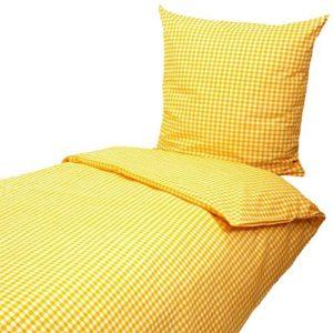 Schöne Bettwäsche aus Seersucker - gelb 155x220 von Hans-Textil-Shop