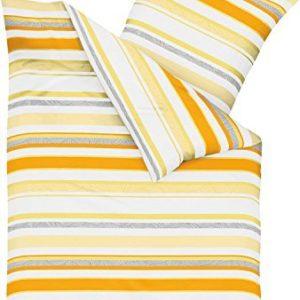 Hübsche Bettwäsche aus Seersucker - gelb 155x220 von Kaeppel