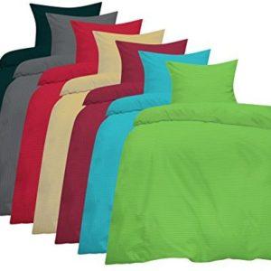 Hübsche Bettwäsche aus Seersucker - grau 135x200 von Home-Impression