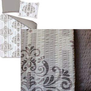 Kuschelige Bettwäsche aus Seersucker - grau 135x200 von KH-Haushaltshandel