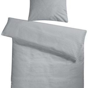Schöne Bettwäsche aus Seersucker - grau 155x220 von Carpe Sonno