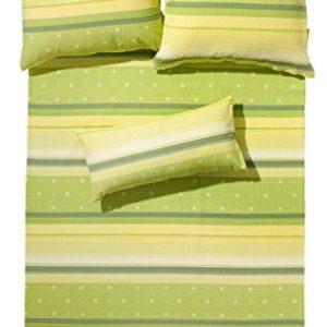 Schöne Bettwäsche aus Seersucker - grün 135x200 von Erwin Müller
