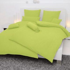 Traumhafte Bettwäsche aus Seersucker - grün 135x200 von Janine Design