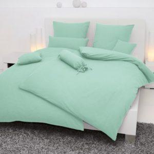 Schöne Bettwäsche aus Seersucker - grün 135x200 von Janine Design