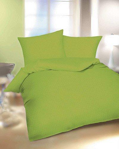 h bsche bettw sche aus seersucker gr n 155x220 von. Black Bedroom Furniture Sets. Home Design Ideas