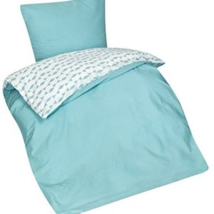 Schöne Bettwäsche aus Seersucker - petrol 135x200 von Aminata