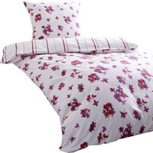 Kuschelige Bettwäsche aus Seersucker - rosa 155x220 von Kaeppel