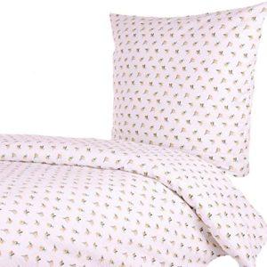 Schöne Bettwäsche aus Seersucker - Rosen gelb 135x200 von Hans-Textil-Shop