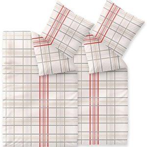 Kuschelige Bettwäsche aus Seersucker - rot 135x200 von CelinaTex