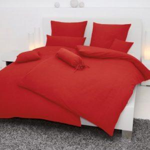 Traumhafte Bettwäsche aus Seersucker - rot 135x200 von Janine Design