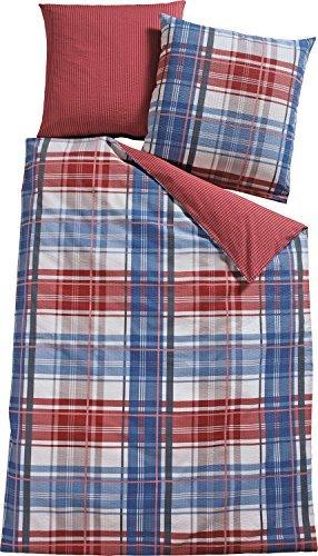 sch ne bettw sche aus seersucker rot 155x220 von biberna. Black Bedroom Furniture Sets. Home Design Ideas