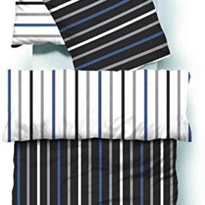 Traumhafte Bettwäsche aus Seersucker - schwarz 135x200 von Bettenpoint