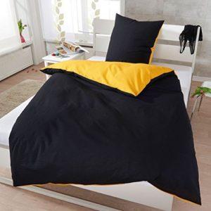 Hübsche Bettwäsche aus Seersucker - schwarz 135x200 von Janine Design