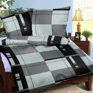 Schöne Bettwäsche aus Seersucker - schwarz 135x200 von Leben-Schlafen