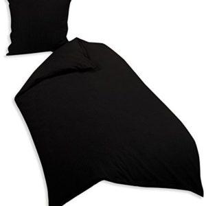 Hübsche Bettwäsche aus Seersucker - schwarz 155x220 von Genieße den Schlaf