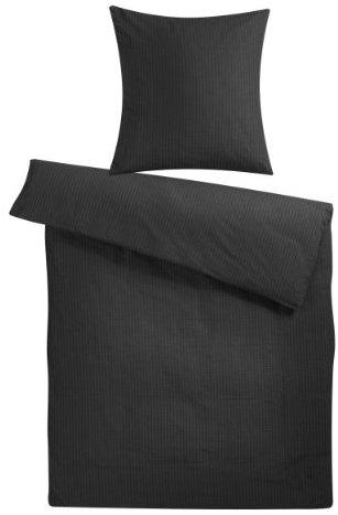 traumhafte bettw sche aus seersucker schwarz 200x200 von carpe sonno bettw sche. Black Bedroom Furniture Sets. Home Design Ideas