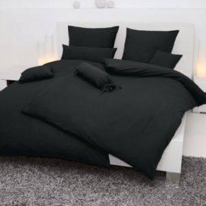 Kuschelige Bettwäsche aus Seersucker - schwarz 200x200 von Janine Design