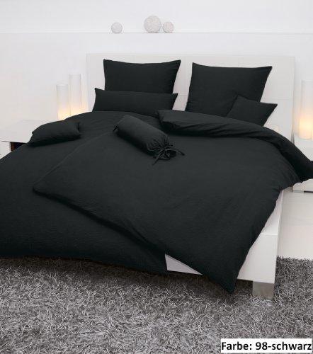 kuschelige bettw sche aus seersucker schwarz 200x200 von janine design bettw sche. Black Bedroom Furniture Sets. Home Design Ideas