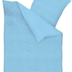 Kuschelige Bettwäsche aus Seersucker - türkis 135x200 von Kaeppel