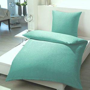 Kuschelige Bettwäsche aus Seersucker - türkis 135x200 von RF My Home
