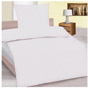 Kuschelige Bettwäsche aus Seersucker - weiß 135x200 von Frottier Heimtexhandel