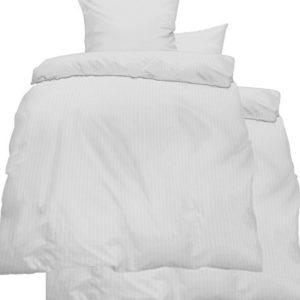 Hübsche Bettwäsche aus Seersucker - weiß 135x200 von KH-Haushaltshandel