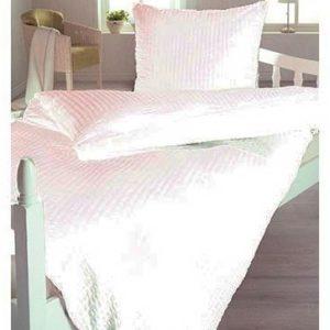 Kuschelige Bettwäsche aus Seersucker - weiß 135x200 von lifestyle4living
