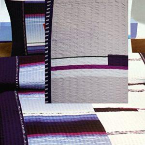 Kuschelige Bettwäsche aus Seersucker - weiß 155x220 von KH-Haushaltshandel