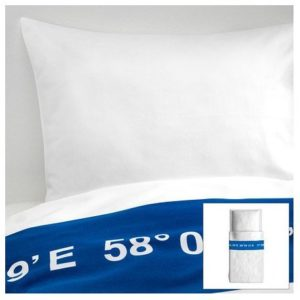 Schöne Bettwäsche aus Baumwolle - blau 140x200 von Ikea