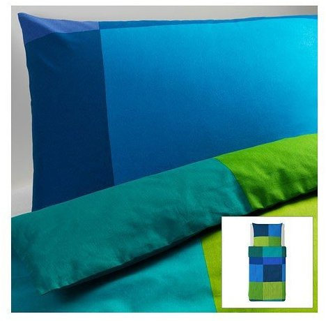 traumhafte bettw sche aus baumwolle blau 140x200 von ikea bettw sche. Black Bedroom Furniture Sets. Home Design Ideas