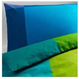 Schöne Bettwäsche aus Baumwolle - blau 220x240 von Ikea