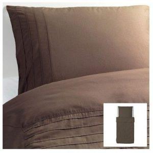 Schöne Bettwäsche aus Baumwolle - braun von Ikea