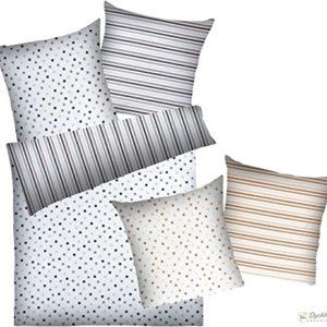 Kuschelige Bettwäsche aus Baumwolle - grau 155x220 von Dyckhoff