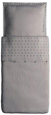 Traumhafte Bettwäsche aus Baumwolle - grau 155x220 von Ikea