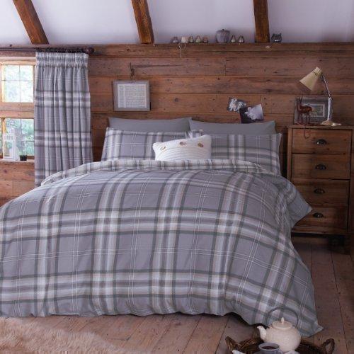 sch ne bettw sche aus baumwolle grau 200x200 von pcj. Black Bedroom Furniture Sets. Home Design Ideas